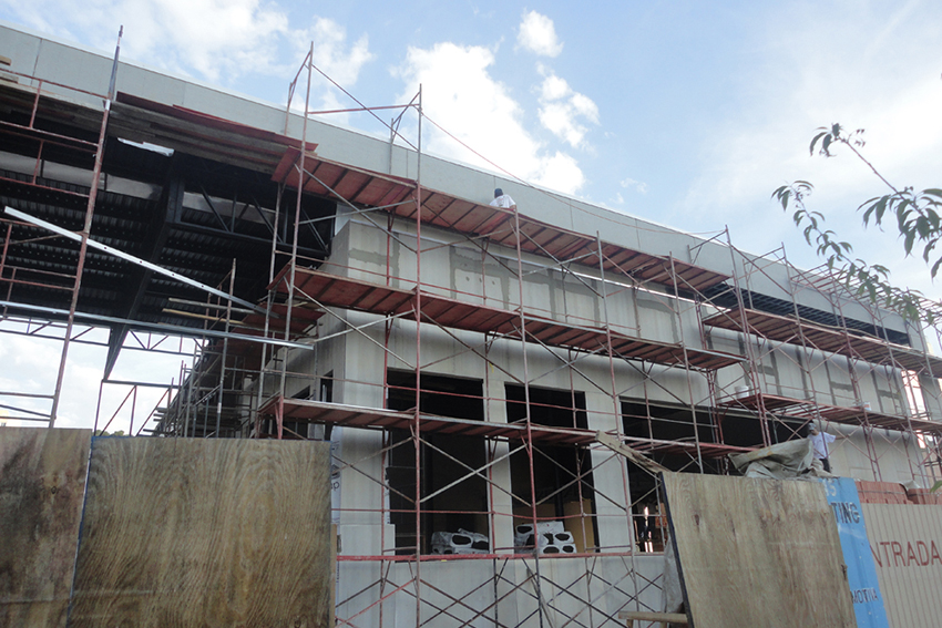 fachada em steel frame